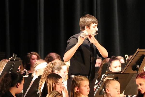 Mason Garbus performs during the HCSD Music in Our Schools Month concert.