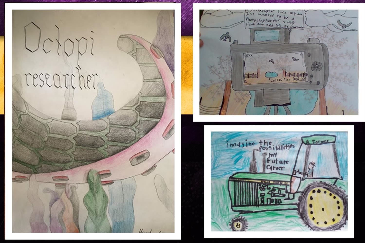 A collage of the winning artwork created by HCSD students