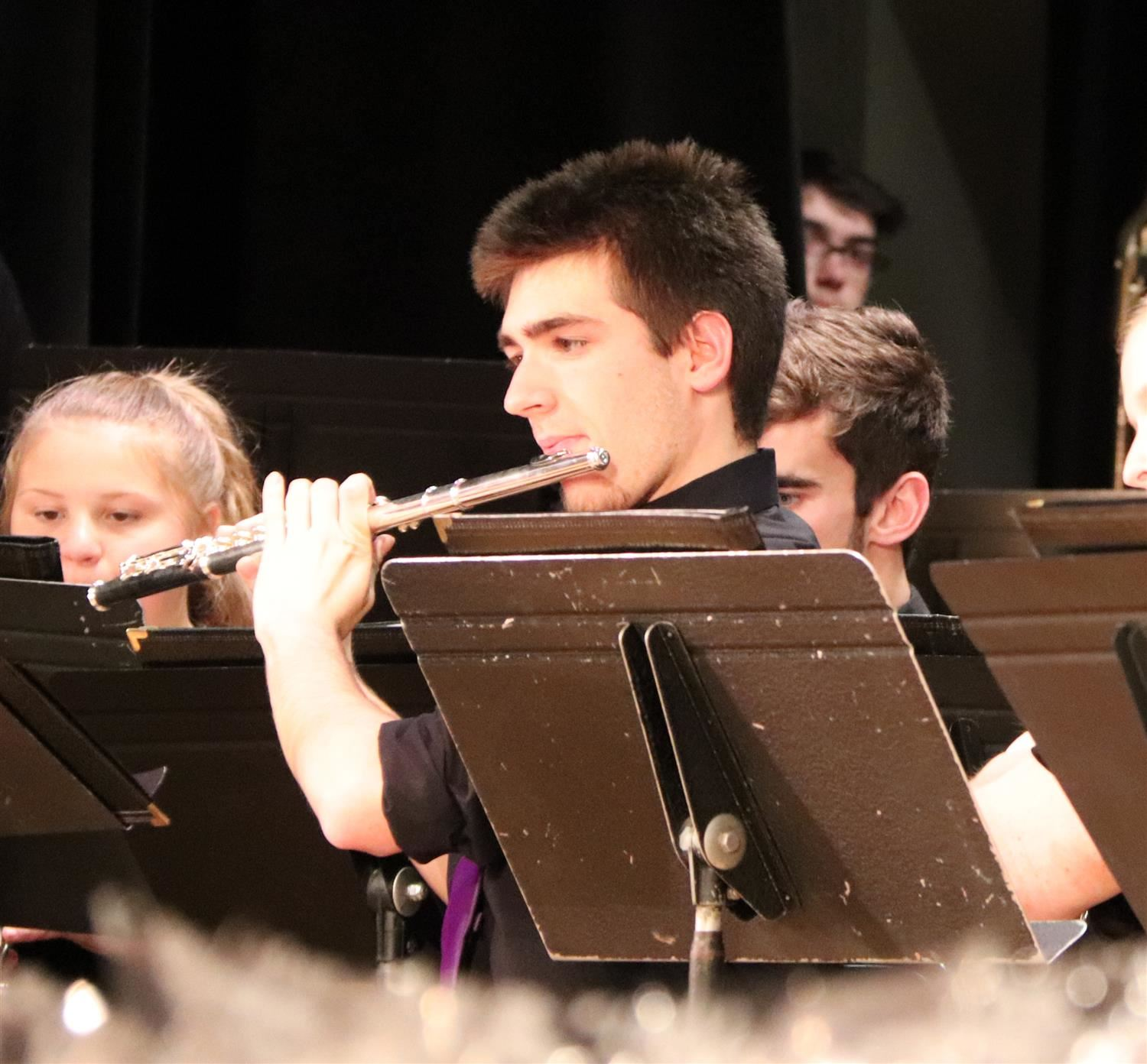 Mason Garbus plays the flute in this file photo. He recently earned a solo in a NYS honor band