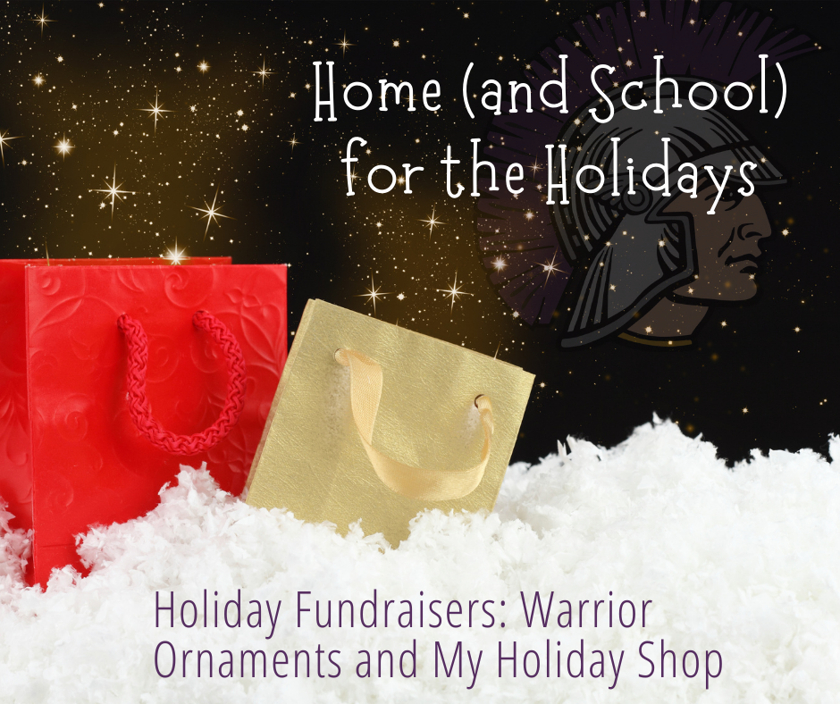 Home & School for the holidays fundraiser graphic